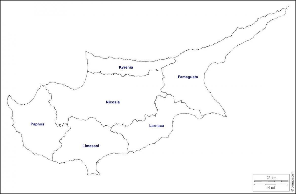 Cipru Harta Contur Harta Cipru Outline Europa De Sud Europa