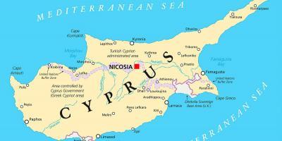 Cipru Hartă Hărți Cipru Europa De Sud Europa